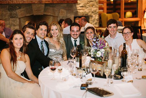A group of people at a wedding