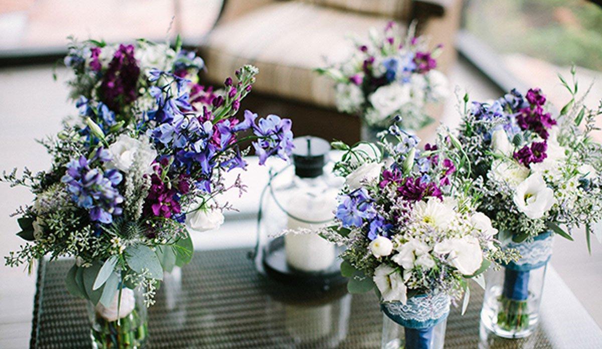 An floral arrangement at an event