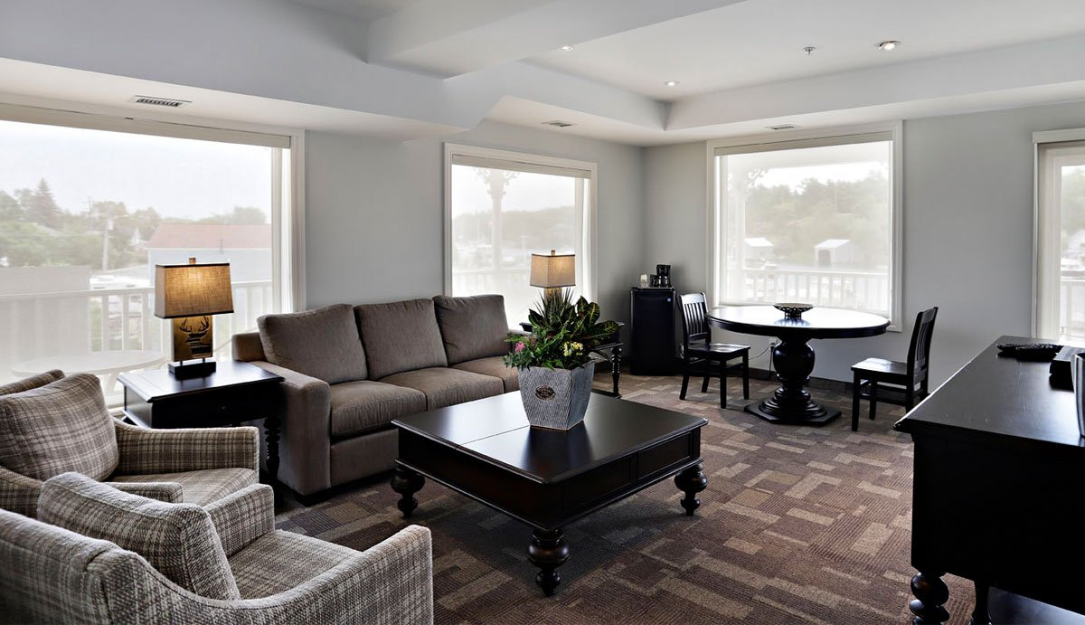 A suite interior finishing